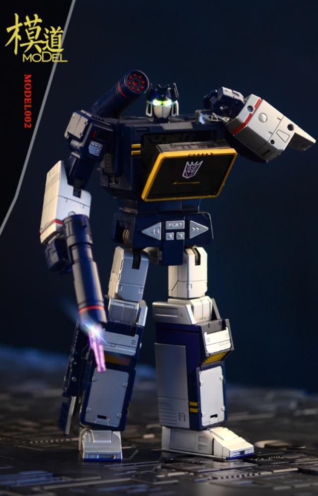 MoDel - Model-002 - MP-13 Masterpiece Soundwave Upgrade Kit with Light-Up Head