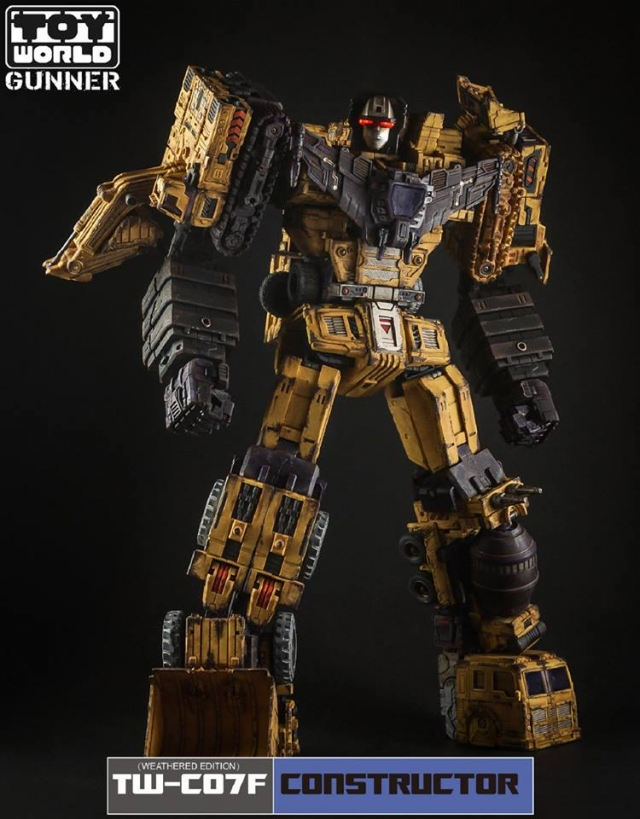 ToyWorld - TW-C07F Yellow Constructor - Weathered Edition - Limited Edition Gift Set