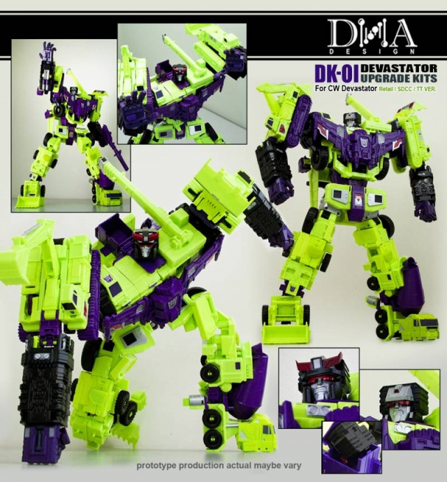 DNA Design - DK-01 - Devastator Upgrade Kit - MIB