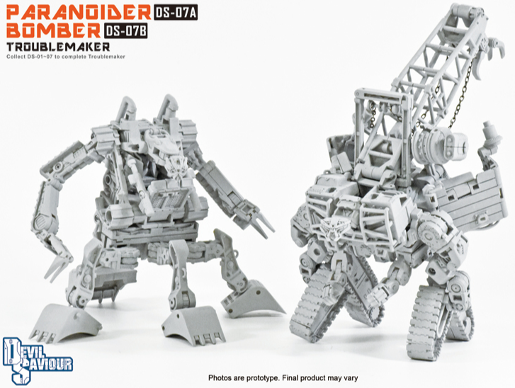 Devil Saviour DS-07A Paranoider and DS-07B Bomber Set of 2 Figures