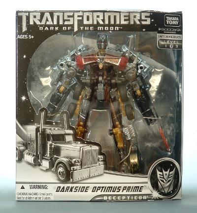 DOTM - Lawsons Exclusive - Battle Blades Dark Side Colored - Optimus Prime