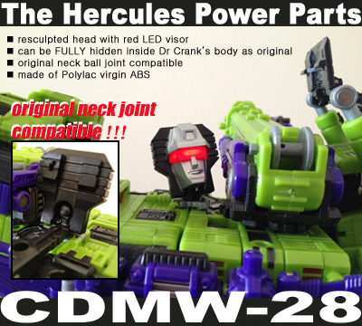 CDMW-28 Hercules Power Parts - Resculpted LED Head w Visor