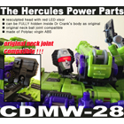 CDMW-28 Hercules Power Parts - Resculpted LED Head w Visor