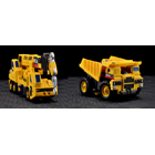 Make Toys - Giant - Set B - Crane & Dump Truck - Yellow Version