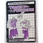 Instruction Manual - Clones Decepticon - Grade B