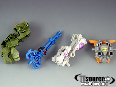 Japanese Transformers Prime - Arms Micron - Set of 4 Weapons Volume 2