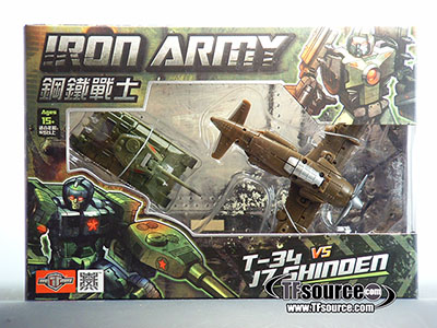 TFC Toys - Iron Army - Set B - T34 & J-7 Shinden - MISB