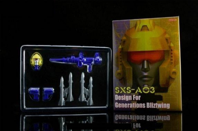 SXS - A-03 Voyager Blitzwing Replacement Head and Weapons