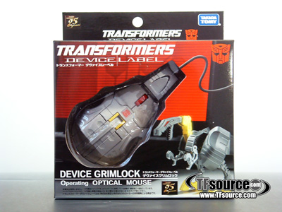 Device Label - Transforming Laser Mouse - Grimlock