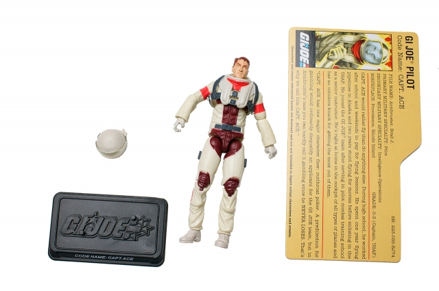 GI Joe - 25th Anniversary - Cpt. Ace - Comic Pack - Loose 100% Complete
