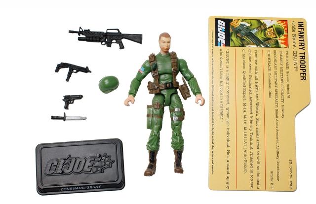 GI Joe - 25th Anniversary - Grunt - SRO Pack - Loose 100% Complete