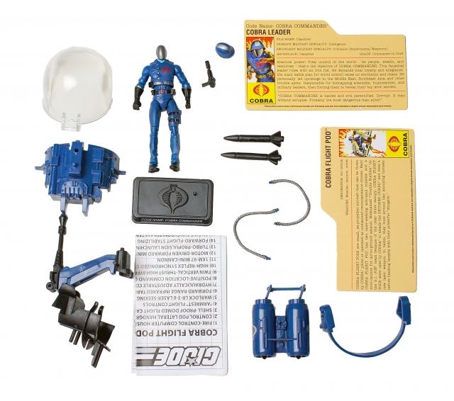 GI Joe - 25th Anniversary - Cobra Commander with Flight Pod - Ultimate Battle Pack - Loose 100% Complete