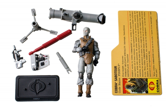 GIJoe - Resolute - Firefly - Cobra Battle Set - Loose 100% Complete