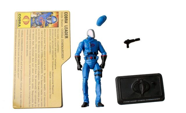 GIJoe - 25th Anninversary - Cobra Commander - Cobra Battle Pack 1 - Loose 100% Complete
