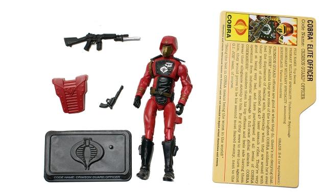 GIJoe - 25th Anniversary - Crimson Guard Officer - SRO Pack - Loose 100% Complete