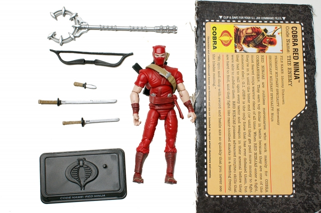 GIJoe - 25th Anniversary - Red Ninja - Loose 100% Complete