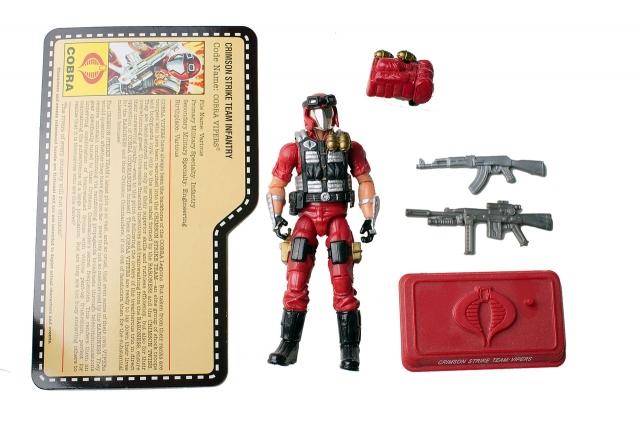GIJoe - JoeCon 2009 - Crimson Strike Team Infantry Viper - Loose 100% Complete