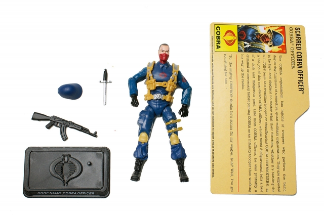 GIJoe - 25th Anniversary - Cobra Officer - Comic Pack - Loose 100% Complete