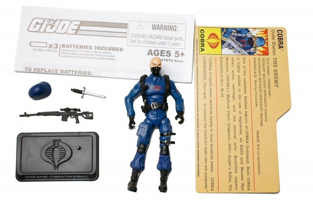 GIJoe - 25th Anniversary - Cobra Trooper - Cobra Battle Pack 1 - Loose 100% Complete