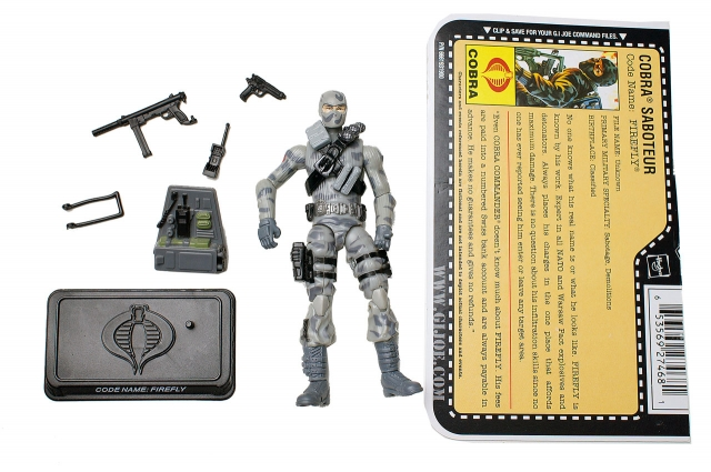 GIJoe - 25th Anniversary - Firefly - Loose 100% Complete