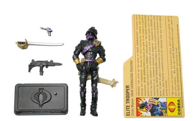 GIJoe - 25th Anniversary - Iron Grenadier Trooper - Loose 100% Complete