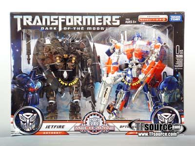 DOTM - Leader Class - Buster Optimus Prime & Jetfire Giftset