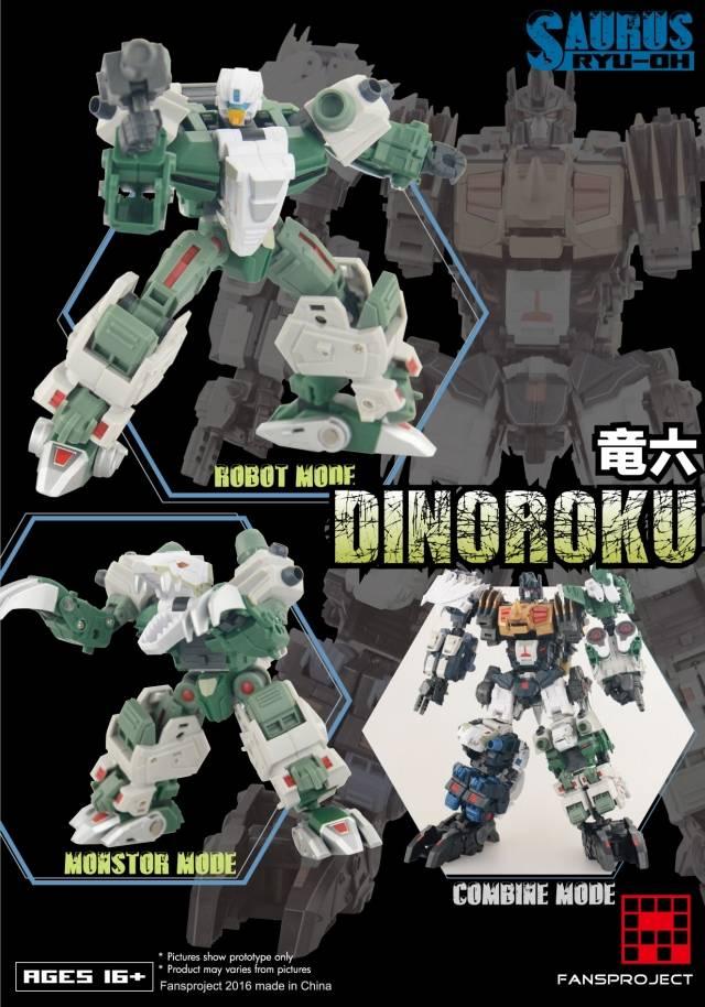 Fansproject - Saurus Ryu-Oh - Dinoroku