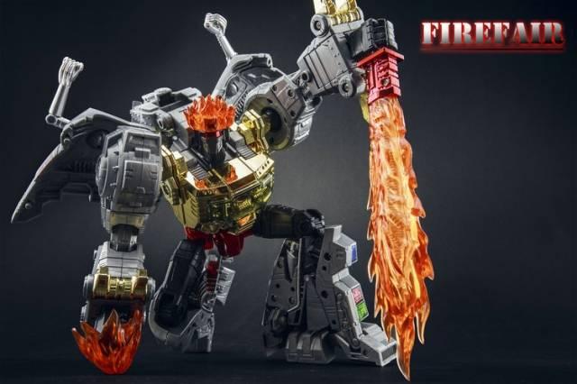 Fire Fair - FF-01 the King of Fire - MP Grimlock Add-on Kit - MIB