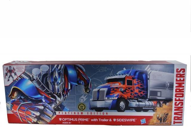 Transformers Age of Extinction - Platinum Edition - Optimus Prime w/Sideswipe - MIB - 100% Complete