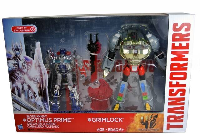 Transformers Age of Extinction Silver Knight Optimus Prime /& Grimlock New