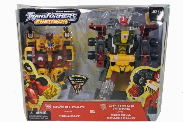 Energon  - Optimus Prime and Overload - MIB - 100% Complete