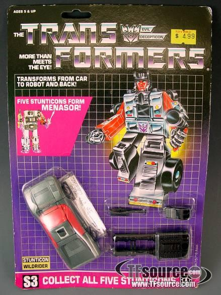 Transformers G1 - Carded  - Wildrider