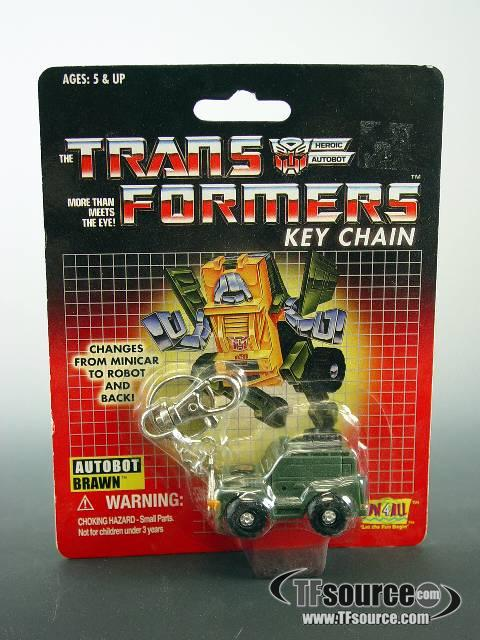 Transformers G1 - Carded - Brawn - Key Chain - MOSC