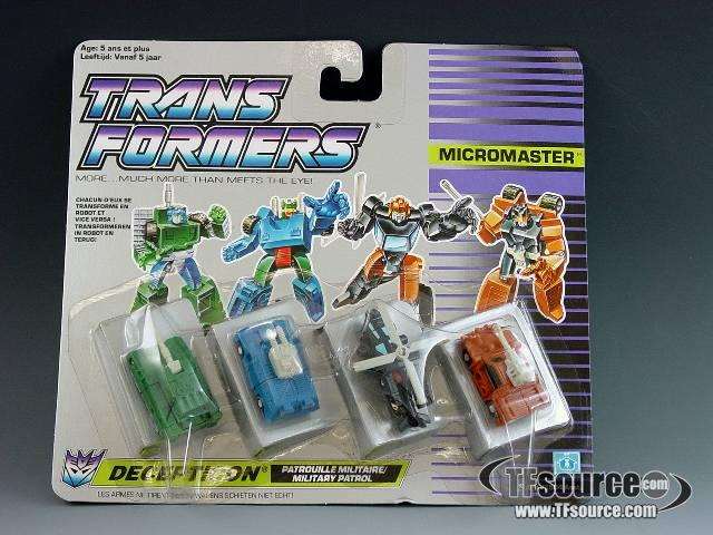 Transformers G1 - Carded - Micromaster Military Patrol - MOSC!