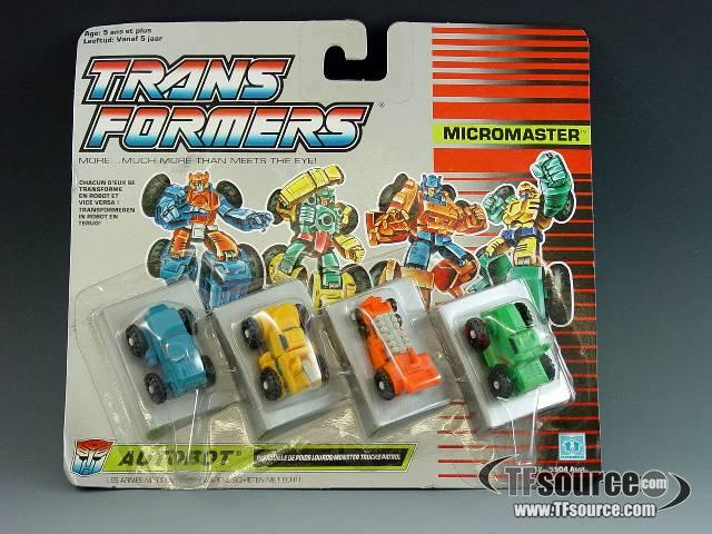 Transformers G1 - Carded - Micromaster Monster Trucks Patrol - MOSC!
