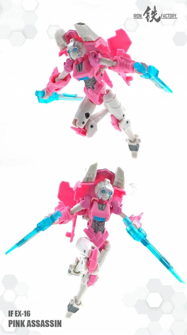 NEW NOT SEALED Transformers Iron Factory IF EX-16 Pink Assassin Arcee