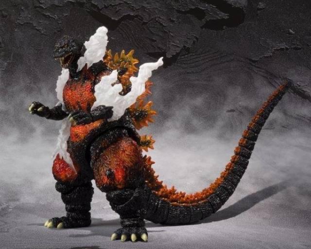S H Monsterarts Godzilla 1995 Ultimate Burning Version