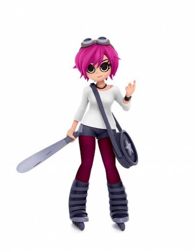 Mondo Scott Pilgrim Ramona Flowers Diamond Exclusive Pink Hair
