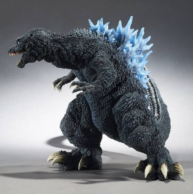 X Plus Godzilla Gigantic Gmk 2001 Blue Dorsal Fin