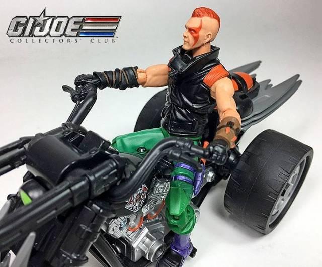 G I  Joe Ninja Force Zartan with Cold Slither Cycle G I  Joe Club