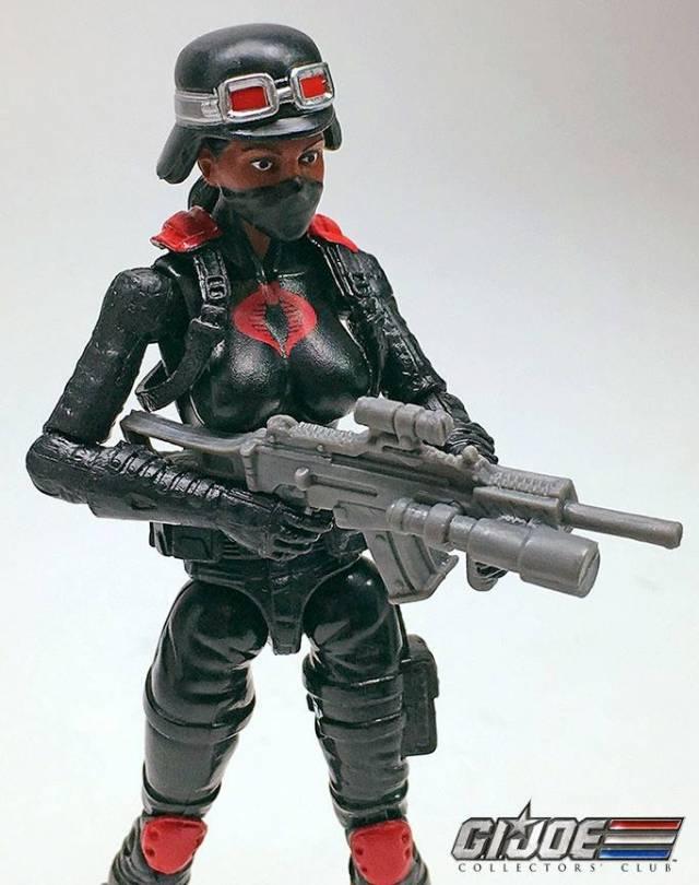 G.I.Joe Gijoe Collectors Club Female Cobra Trooper Night Stalkers Black Hair