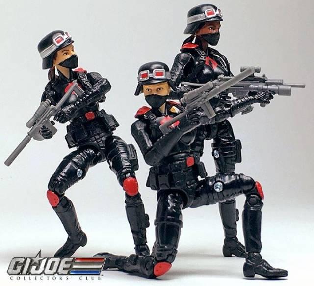 G.I.Joe Gijoe Collectors Club Female Cobra Trooper Night Stalkers Blonde Hair