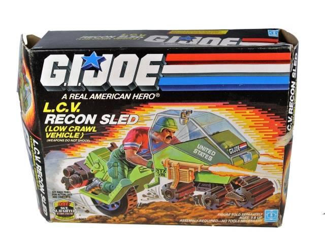 GI Joe - L.C.V. Recon Sled Low Crawl Vehicle - MIB - 100% Complete