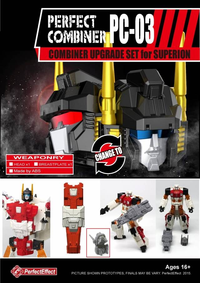 Perfect Effect - PC-03 Perfect Combiner Upgrade Set - Superion Set