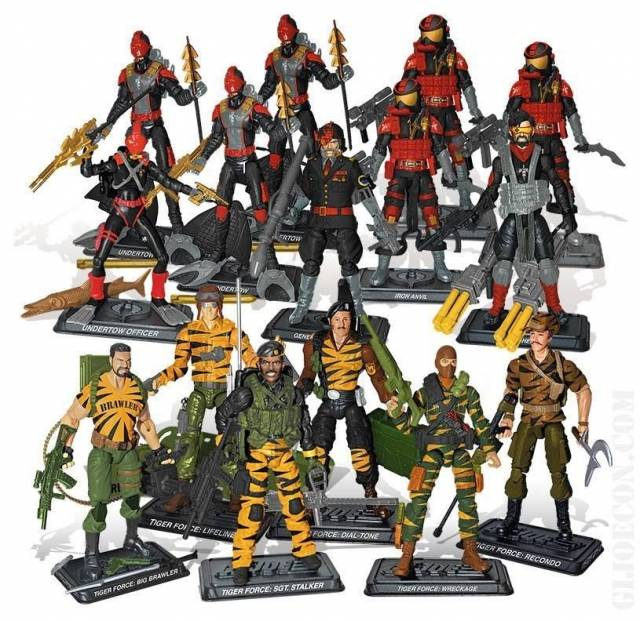 GIJoe - JoeCon 2015 - Loose Set - Tiger Force vs. Iron Grenadiers