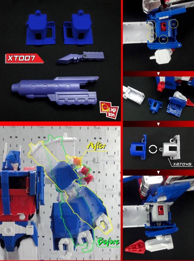 X2 Toys - XT007 MP-22 Ultra Magnus - White Version Upgrade Kit