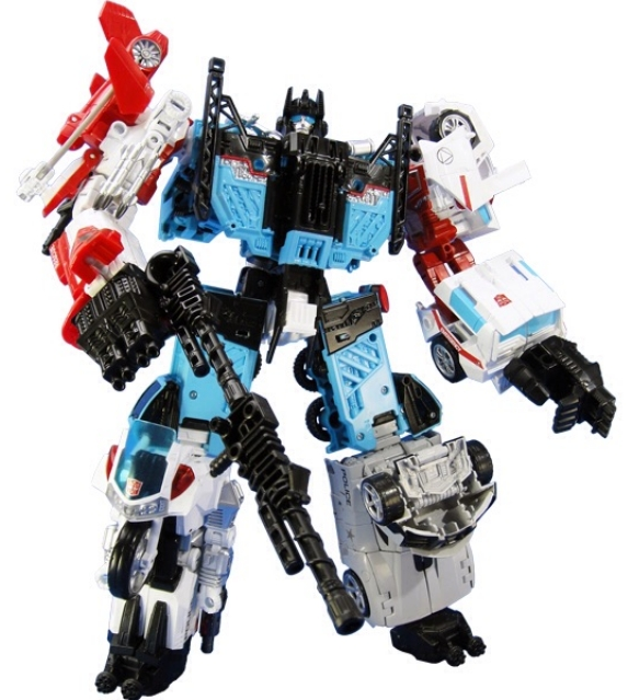 UW-03 Defensor Combiner Set of 5 Exclusive | Transformers Unite Warriors