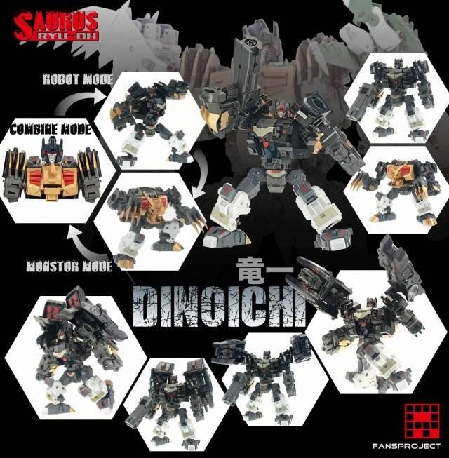 Fansproject - Saurus Ryu-Oh - Dinoichi