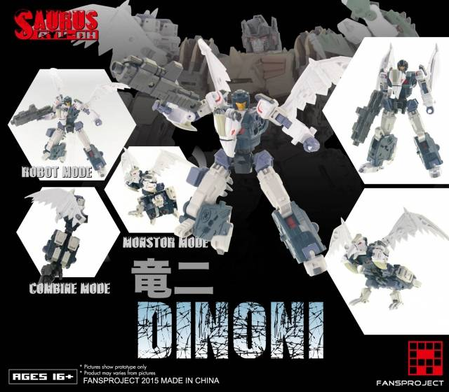 Fansproject - Saurus Ryu-Oh - Dinoni