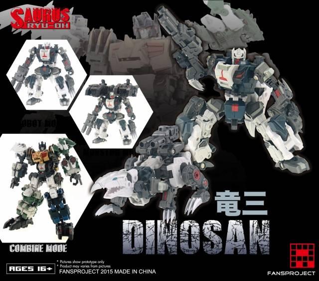 Fansproject - Saurus Ryu-Oh - Dinosan